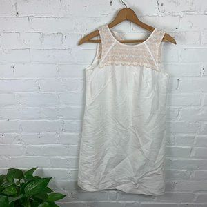 Loft Sheer Scallop Embroidered Dress Sleeveless